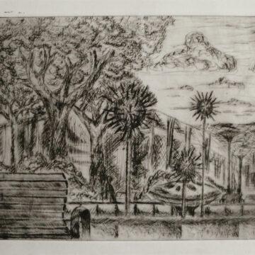 """""""Ungewohnt"""", Kupferstich, 20 x 15 cm, 2001"""
